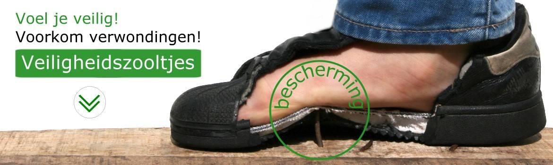 VeiligeVoeten: Voel je veilig! Voorkom verwondingen! Onze veiligheidszooltjes beschermen goed tegen scherpe objecten in je voet.