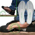 Veilige voeten: De veiligheidszooltjes beschermen goed tegen spijkers en andere scherpe objecten.