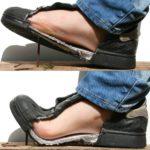 Veilige voeten: De veiligheidszool voorkomt dat de spijker de voet verwondt.