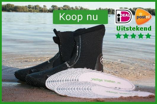 Duikschoenen veiliger: leg er op maat geknipte veiligheidszooltjes in en weet dat je voetzolen veilig zijn!