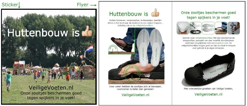 Bestel gratis stickers en flyers van VeiligeVoeten.nl om de veiligheidszooltjes onder de aandacht te brengen!