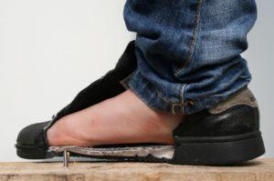 De veiligheidszool beschermt de voet, foto 5 van 8.