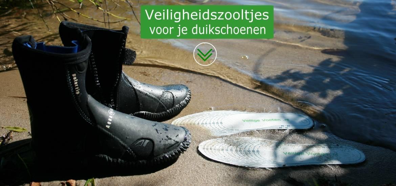 Duikschoenen maak je veiliger met een anti-perforatie inlegzool!