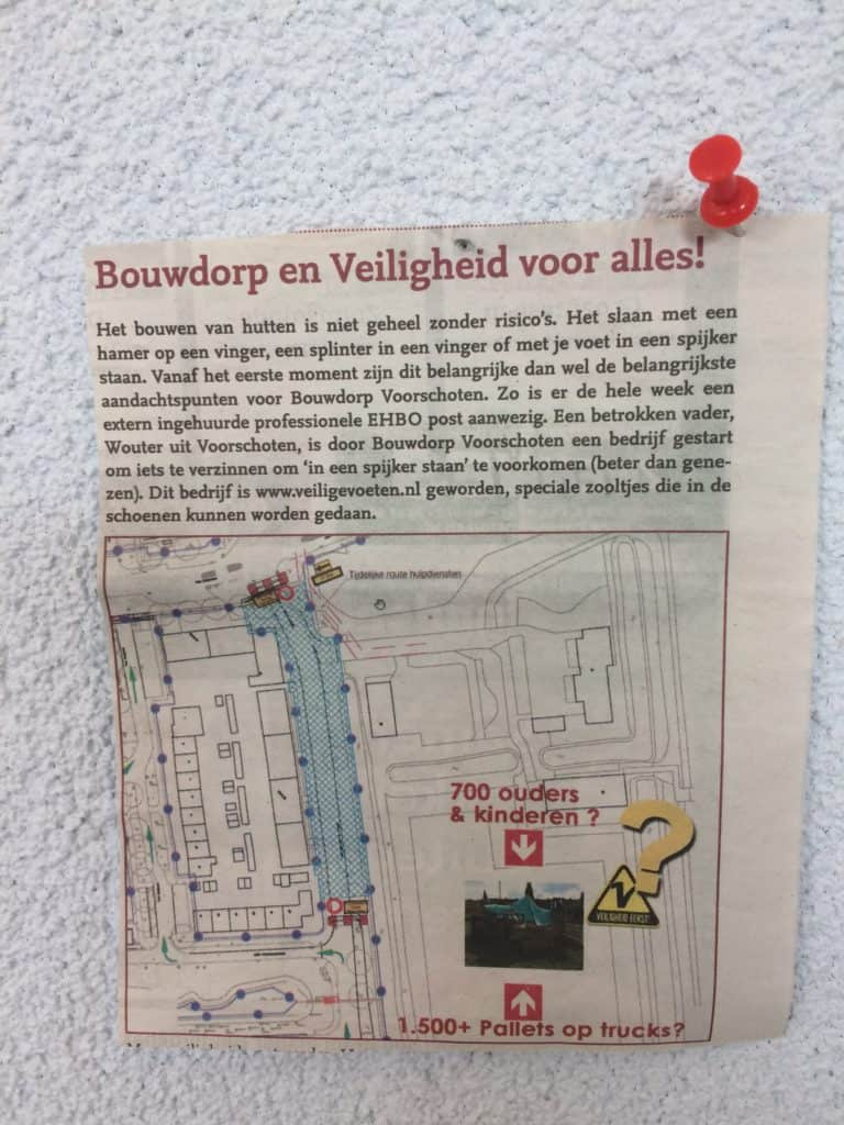 Veiligheid voor alles bij bouwdorp
