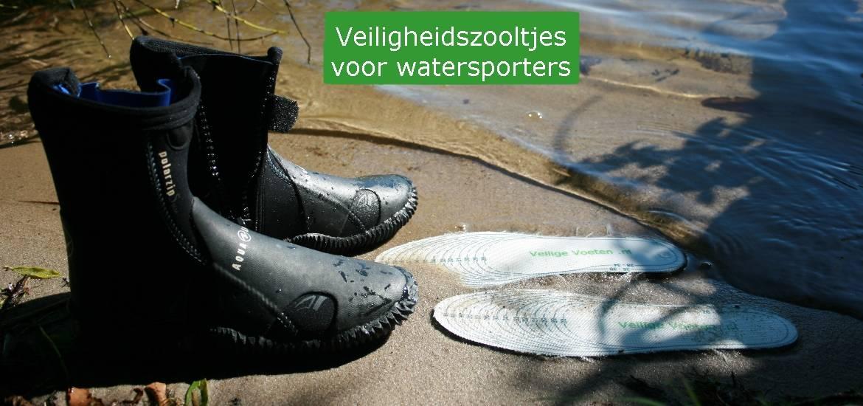Gebruik veiligheidszooltjes in je duik- of waterschoenen. Zo zijn je voeten veilig en kun je volop van het watersporten genieten!